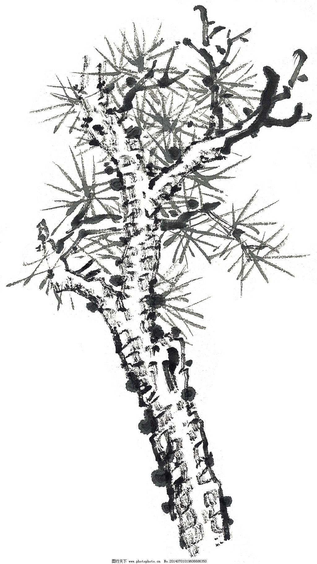 中国国画 吉祥鸟 仙鹤 松树 风图片