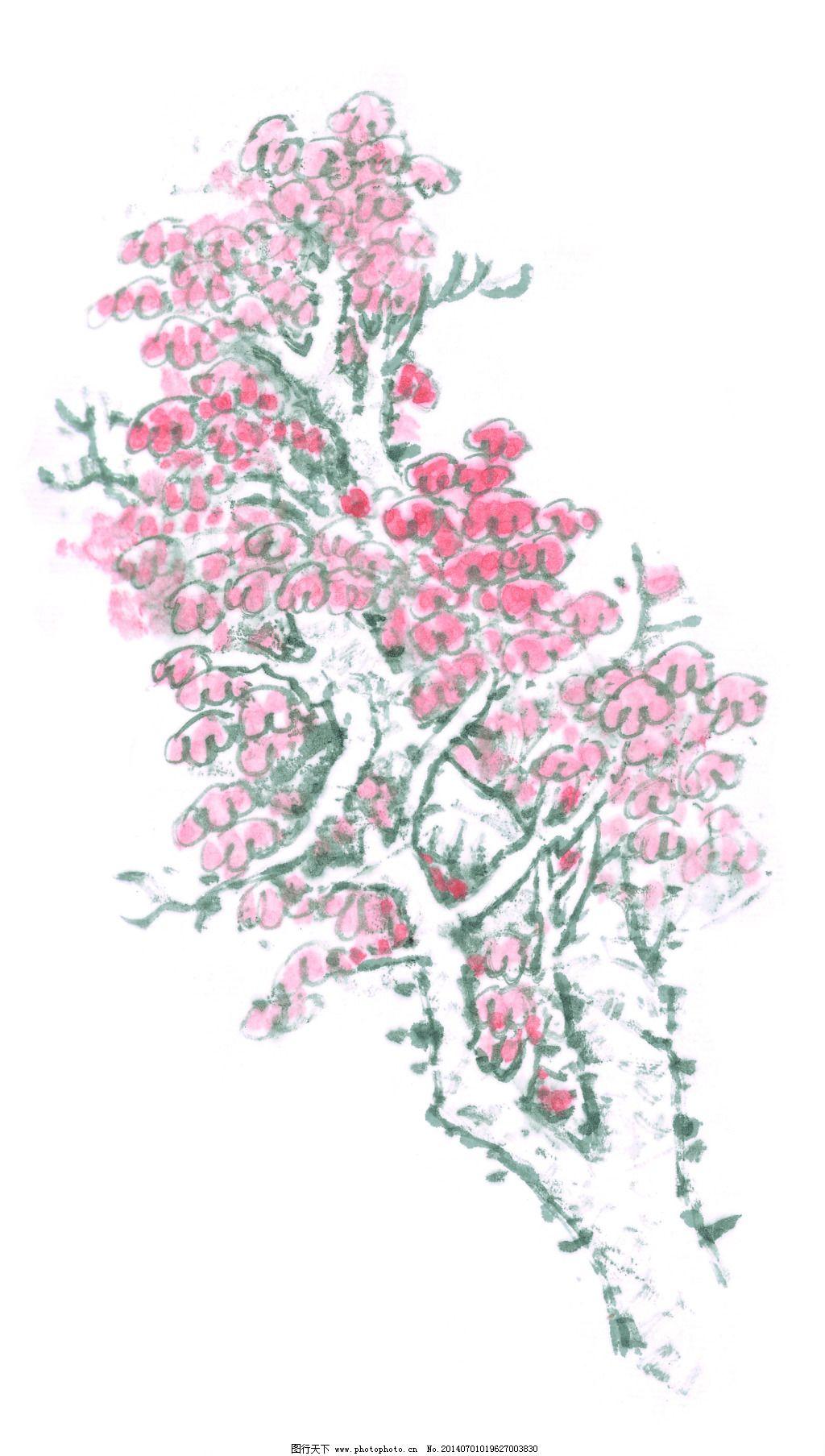 写意树木免费下载 国画 景物 美术 色彩 国画 美术 景物 色彩 图片