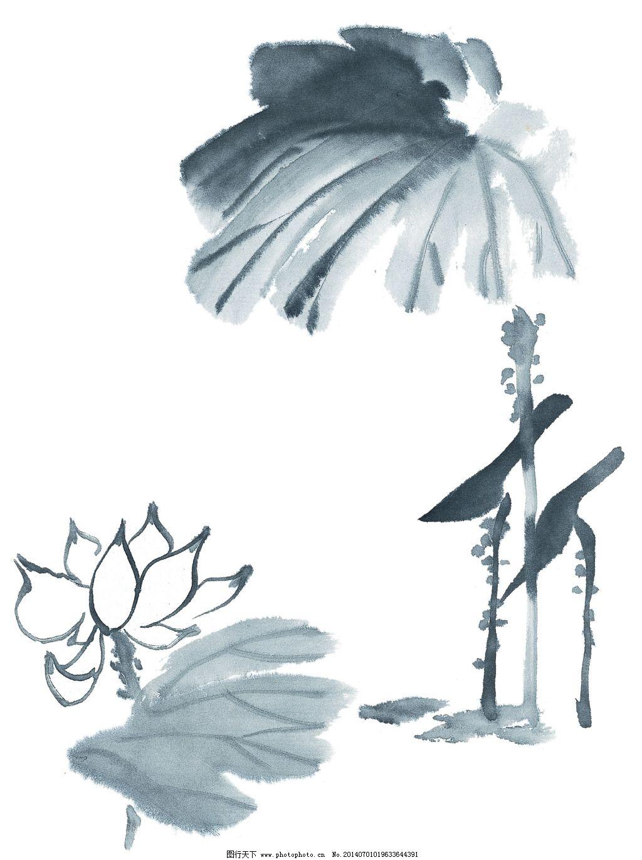 荷花翠鸟免费下载 荷花 荷叶 中国画 荷花 翠鸟 荷叶 中国画 图片素材