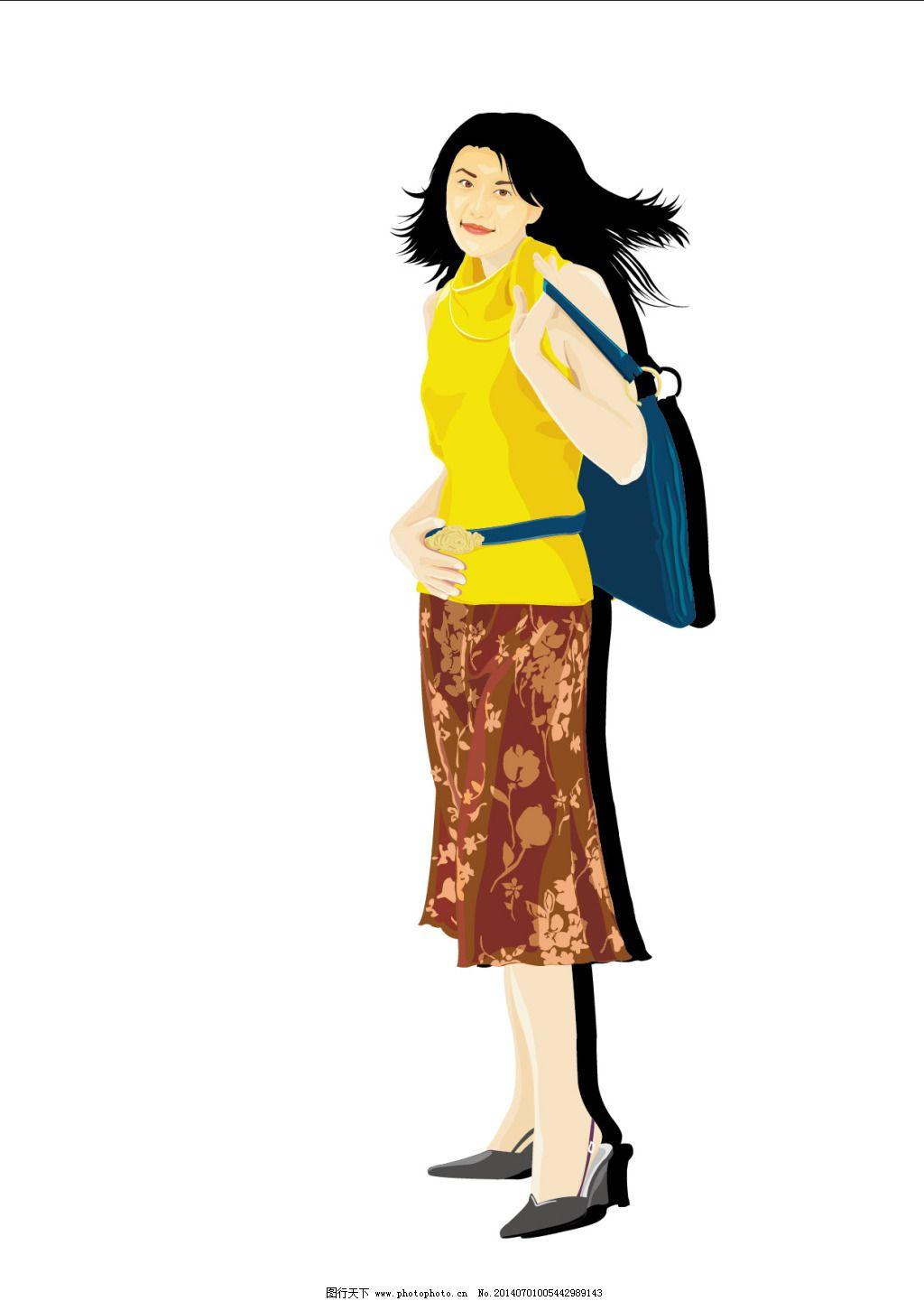 背包美女免费下载 ai 背包 卡通 人物 背包 卡通 矢量 人物 ai 矢量图图片