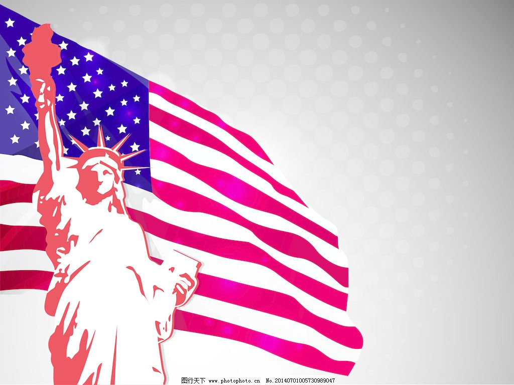 背景 玩家/美国国旗和自由女神像