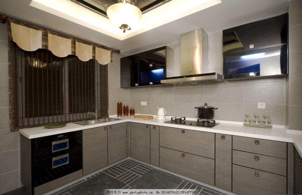 厨房设计 厨房设计免费下载 窗帘 装修 家居装饰素材 室内设计