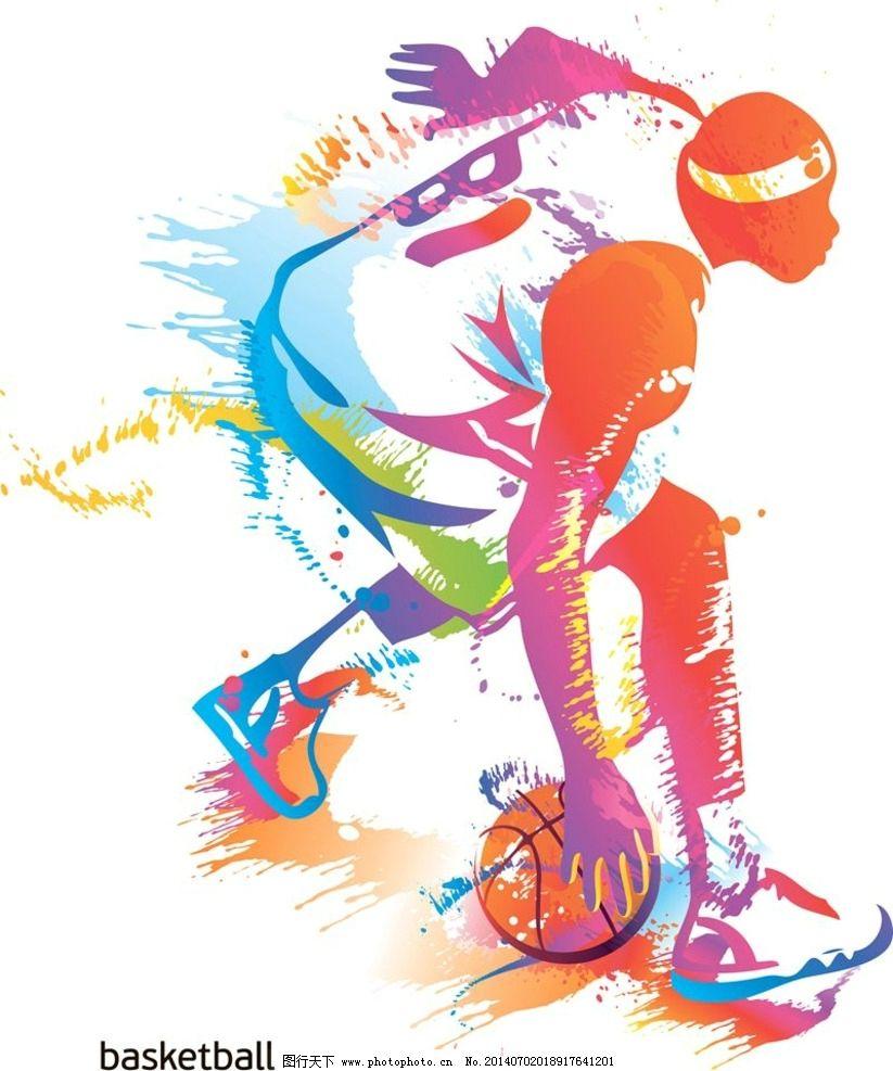 篮球运动小人简笔画