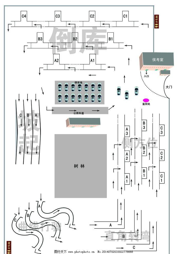 考场图 科目二平面图 科目二-旗忠驾校科目二平面图