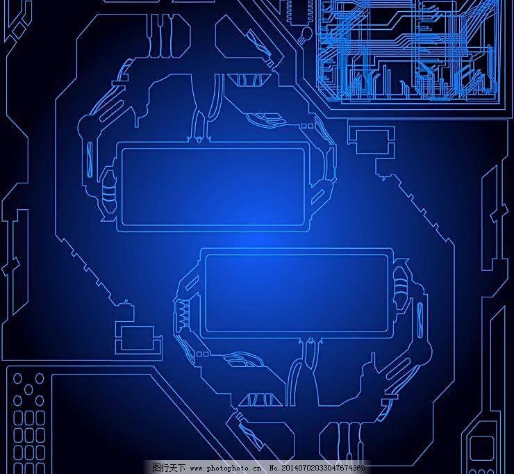 艺术设计 电路板