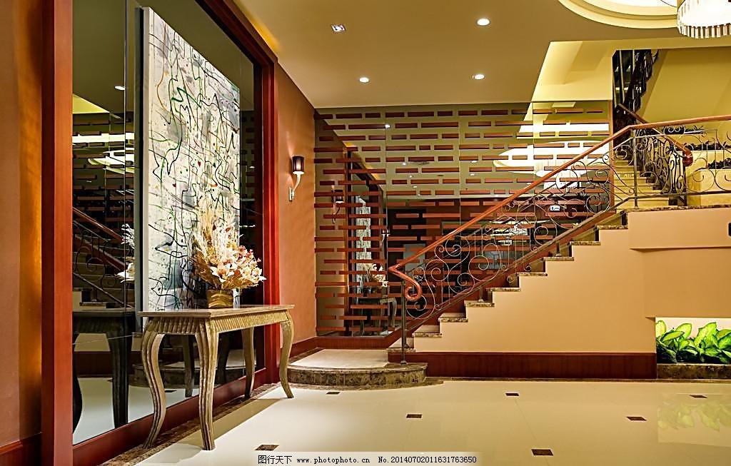 玄关 陶瓷 抛光砖 仿古砖 瓷砖 磁砖 铺贴 空间 别墅 楼梯 背景 墙