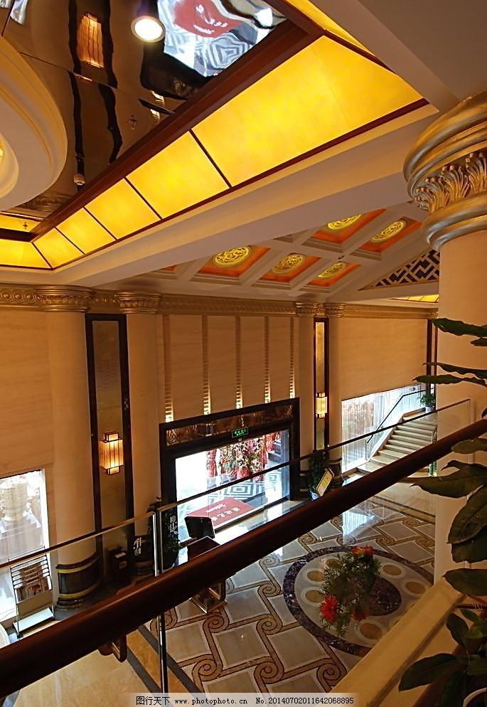 300dpi jpg 宾馆 玻璃 瓷砖 大厅 地板 吊顶 饭店 复式 酒店大堂 酒