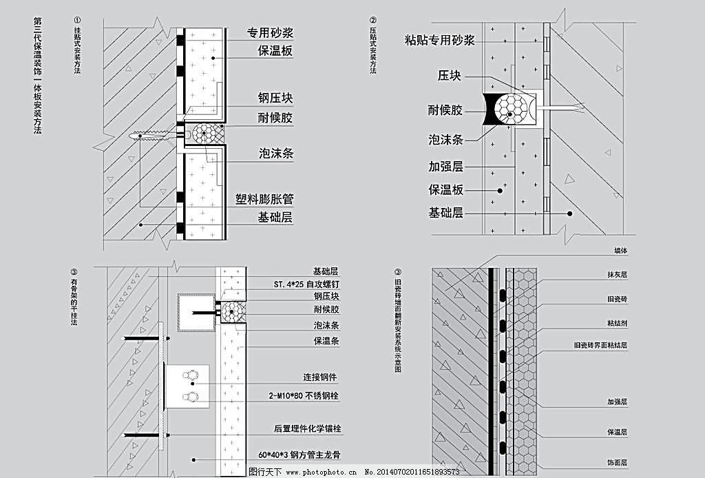 保温一体板 安装方法_室内装饰_装饰素材_图行天下图库