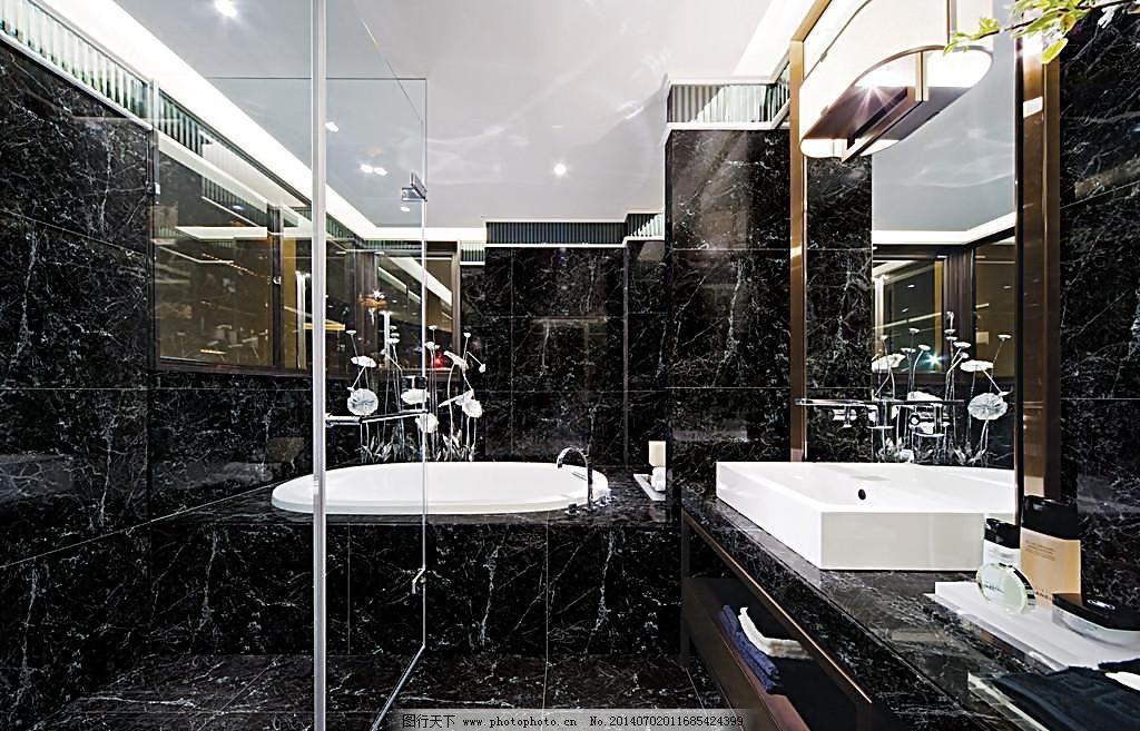 设计 室内设计        卫生间效果图        黑色 瓷砖 卫生间效果图