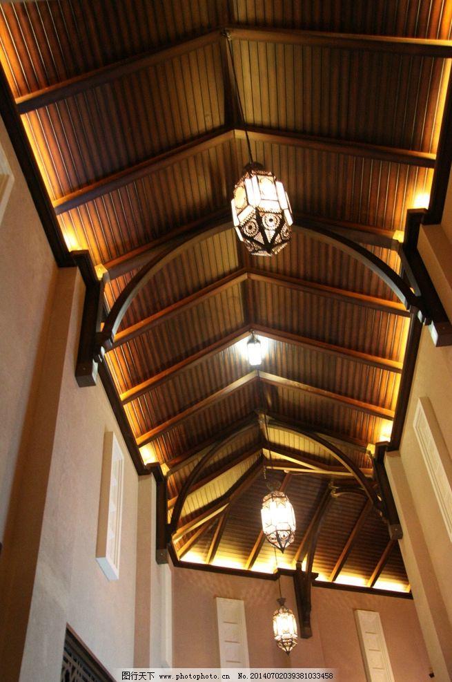 中式酒店 中式饭店 中式会所 吊灯 欧式吊灯 木格栅 室内摄影 建筑图片