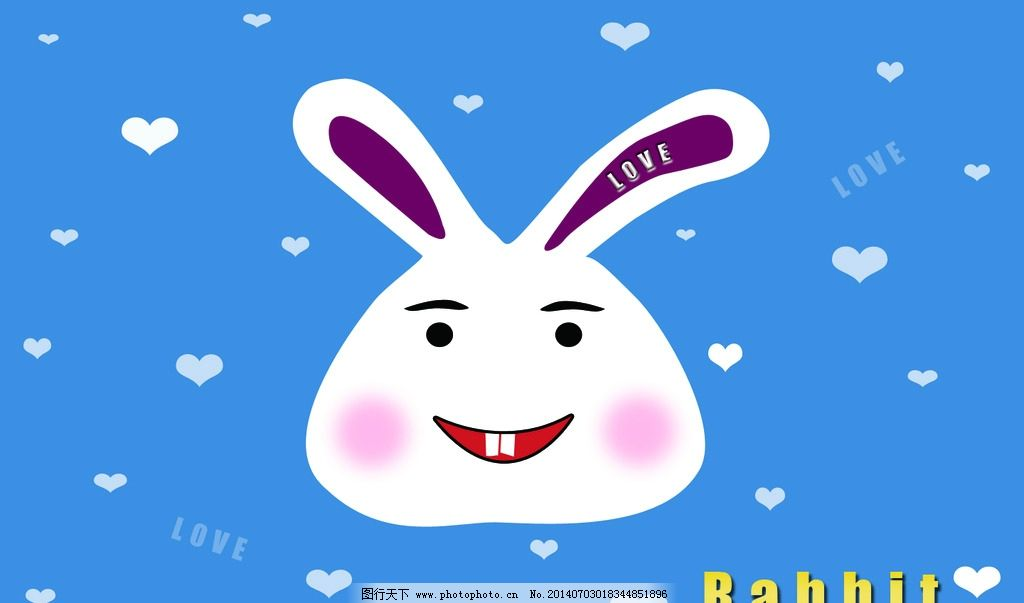 兔子 兔子矢量图 白兔 卡通兔子 小兔子 兔子动漫 动漫动画图片