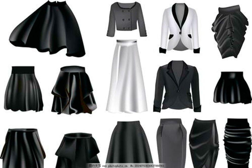 手绘服装设计短裙