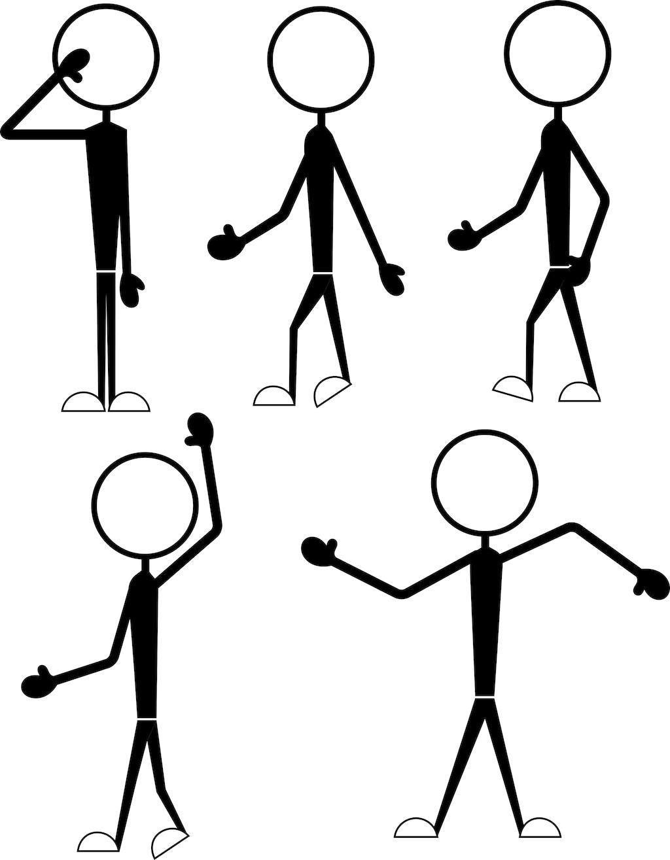 简笔画人物-笔卡通