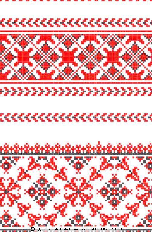 十字绣花纹背景矢量素材4