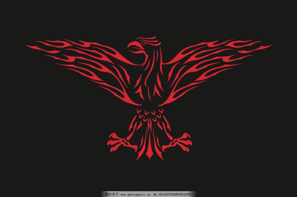 火焰老鹰纹身贴图 火焰老鹰纹身贴图免费下载 翅膀 飞鹰 红火 火苗