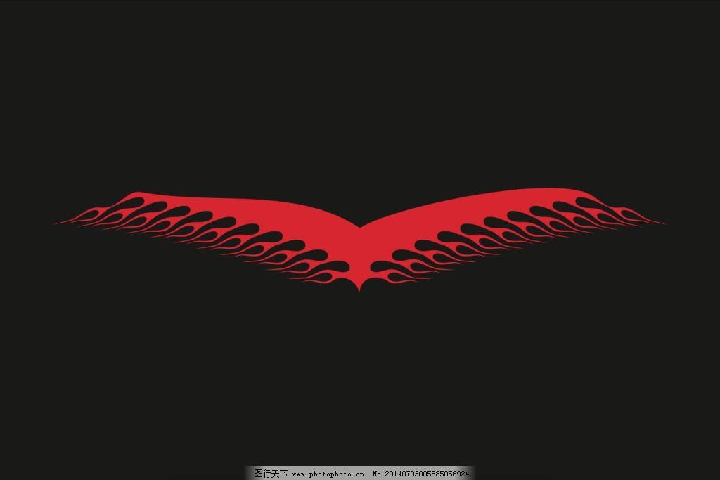 火焰飞鹰纹身贴图