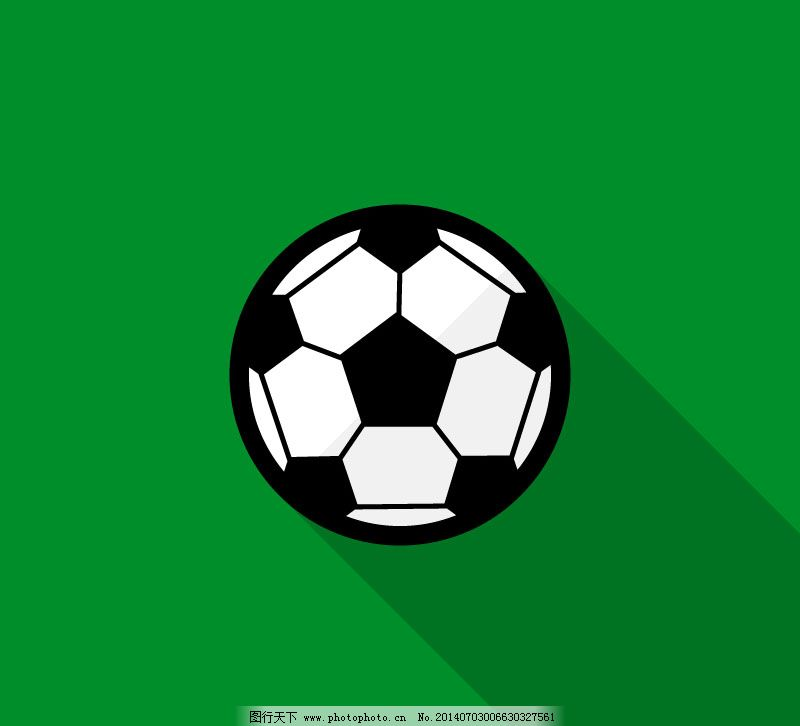扁平化足球手绘海报设计矢量素材