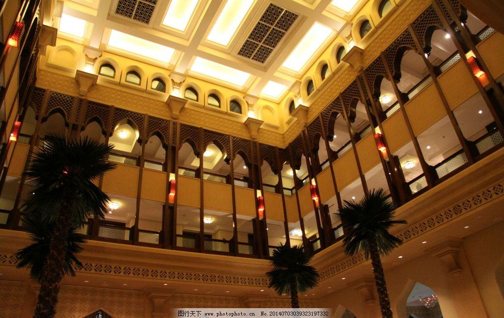 花格 雕花 欧式雕花 共享大厅 酒店共享大厅 共享大堂 植物 树木 室内