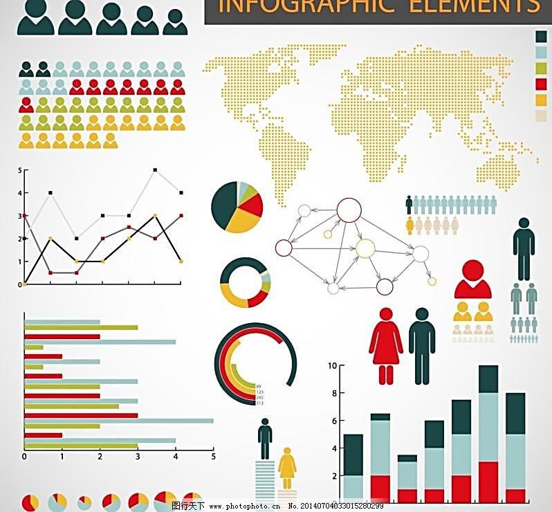 彩色 分析 统计图 趋势 价格 百分比 列表 表格 统计表 信息图 图表