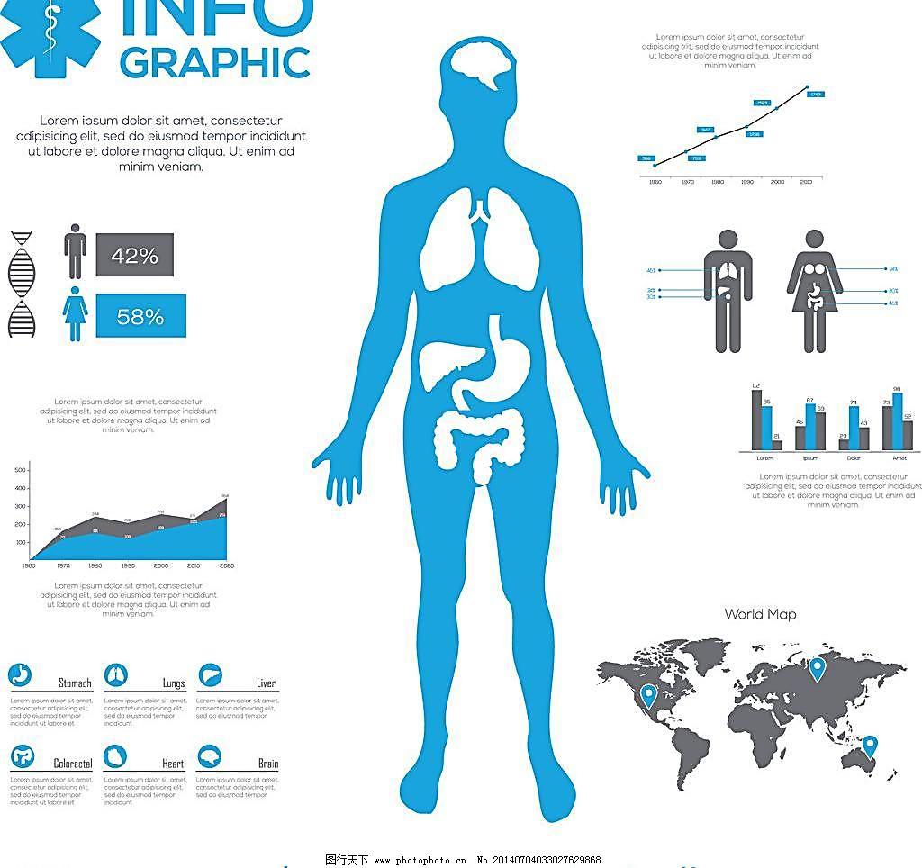 素材 比例图 底纹背景 底纹边框 分类图表 分析图表      医疗信息图片
