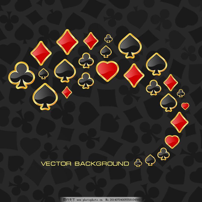 扑克主题矢量图形免费下载 爱 你 扑克    心形的    爱 扑克 圆形的