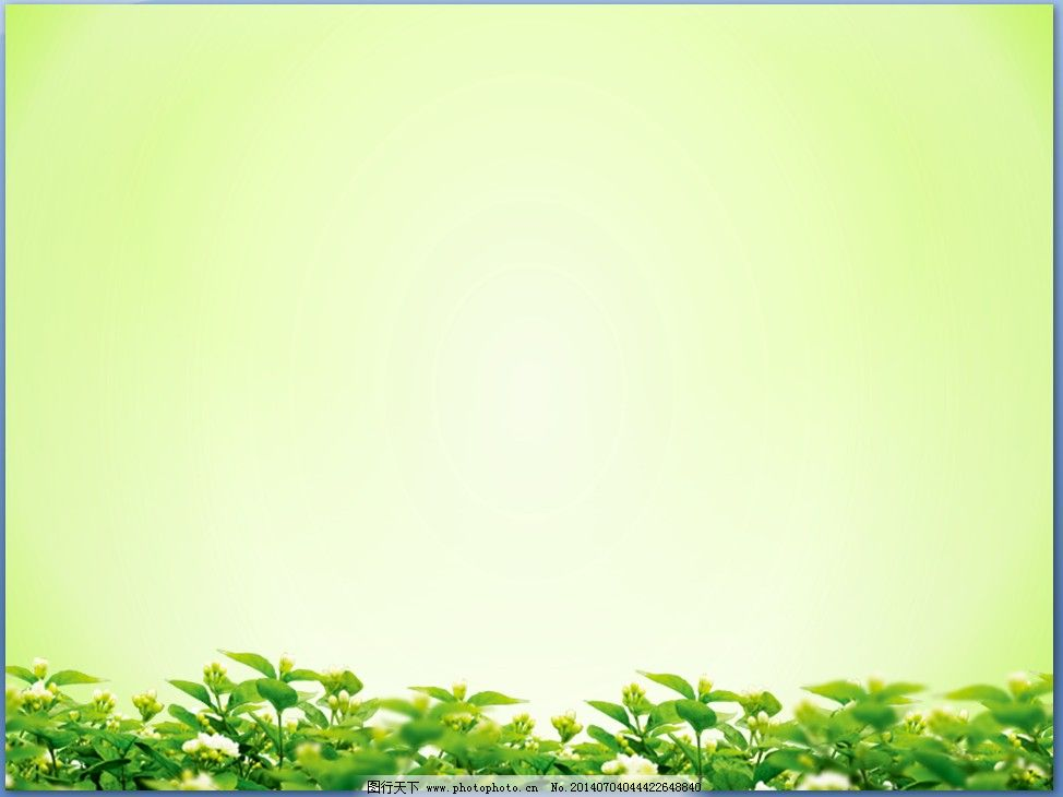 淡雅绿色ppt背景