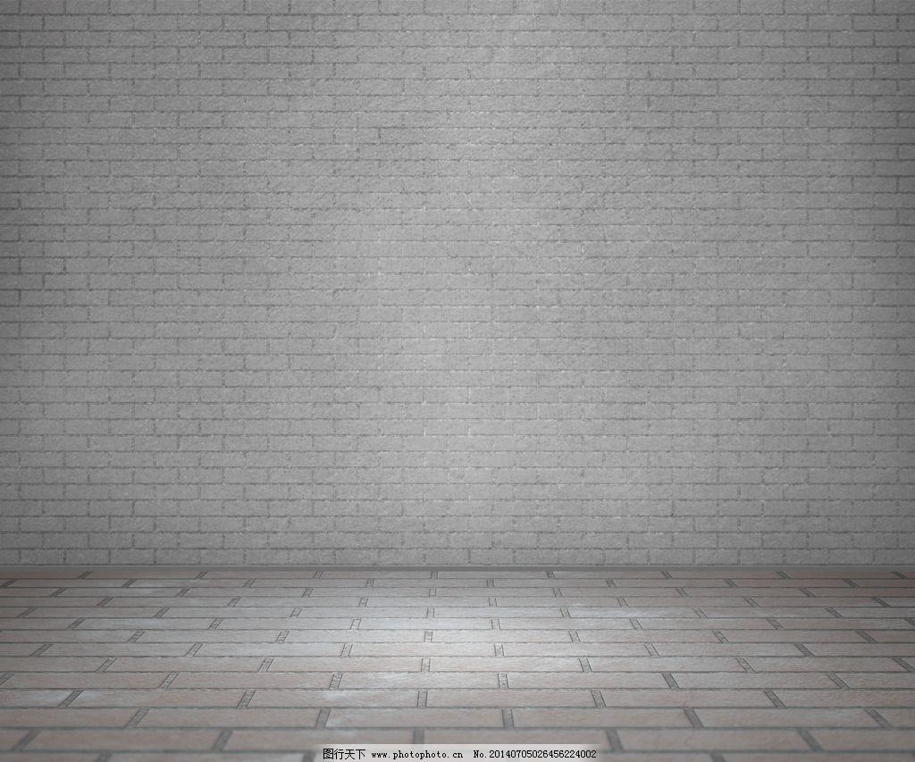 室内砖灰色背景