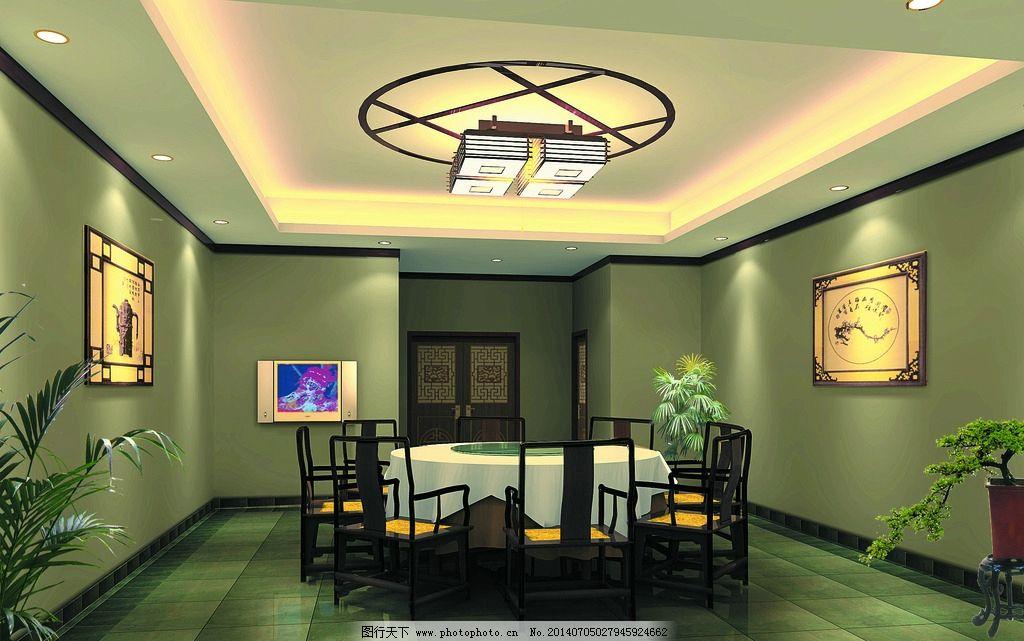 中式酒楼贵宾房 室内装修 酒楼包房设计 饭厅设计 酒楼包房装饰 天花