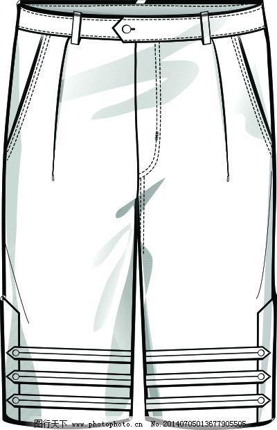 男裤 时装 路易牛仔五分裤 男裤 时装 服装设计 服装设计图
