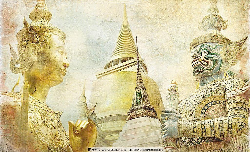 泰国佛塔图片_传统艺术