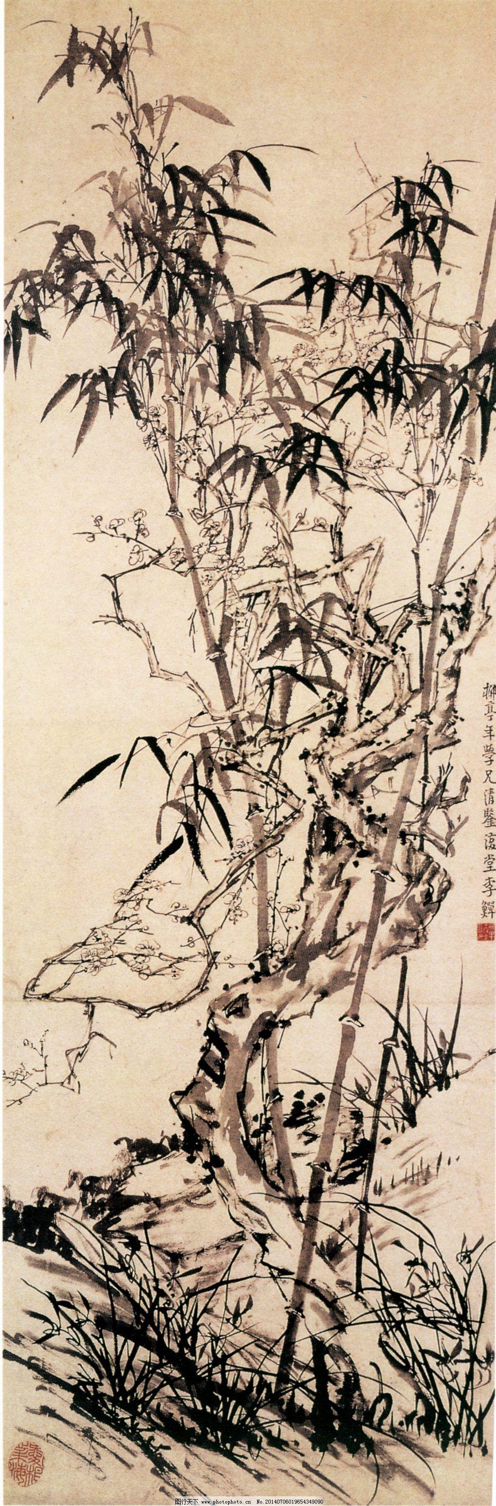 枯木逢春 枯木逢春免费下载 古典 古画 国画 绘画 水墨 中国画