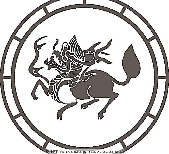 古代元素图片免费下载 cdr 动物 古代元素 矢量图库 文化艺术 宗教