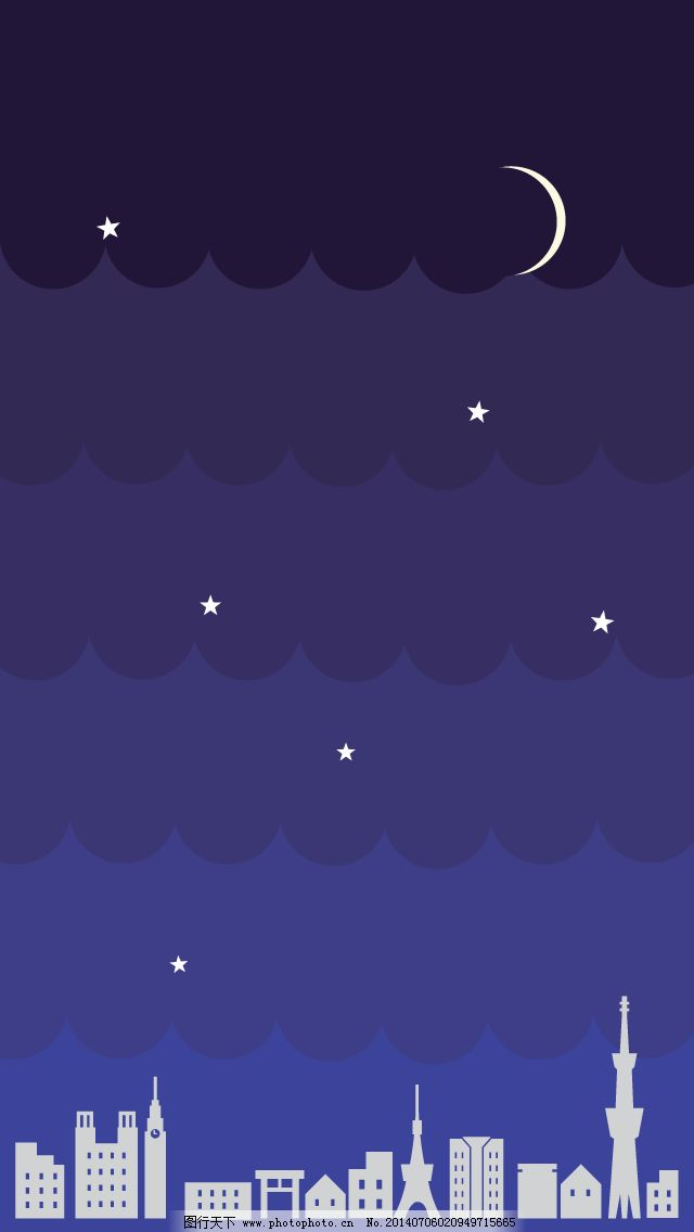 渐变夜晚城市天空免费下载 建筑物 乌云 月亮 月亮 建筑物 乌云 图片图片