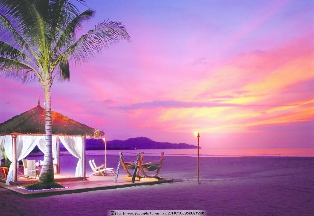 马尔代夫 欧洲 椰子树 海景 沙滩 海水 大海 植物 晚霞 海岛 夕阳