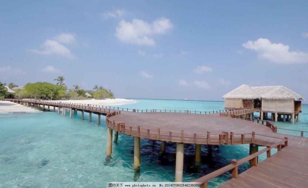 72dpi jpg 国外旅游 海岛 海景房 景观 蓝色海水 蓝天白云 旅游摄影