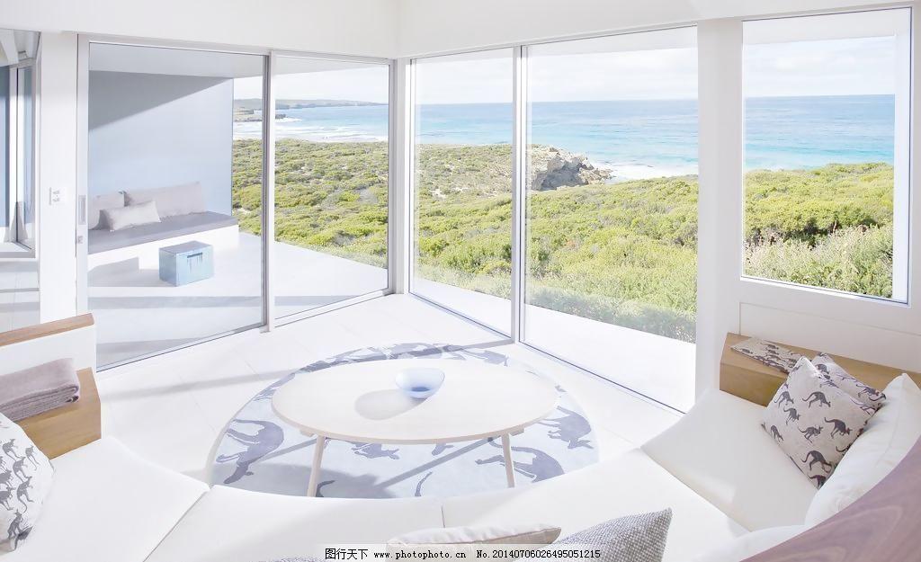 海景 建筑園林 落地窗 攝影 室內攝影      景別墅 海景 洋房 落地窗