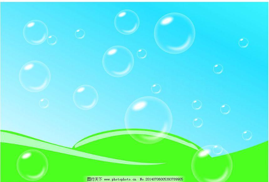 气泡免费下载 cdr 白云 蓝天 其他矢量 矢量素材 矢量图库 蓝天 白云