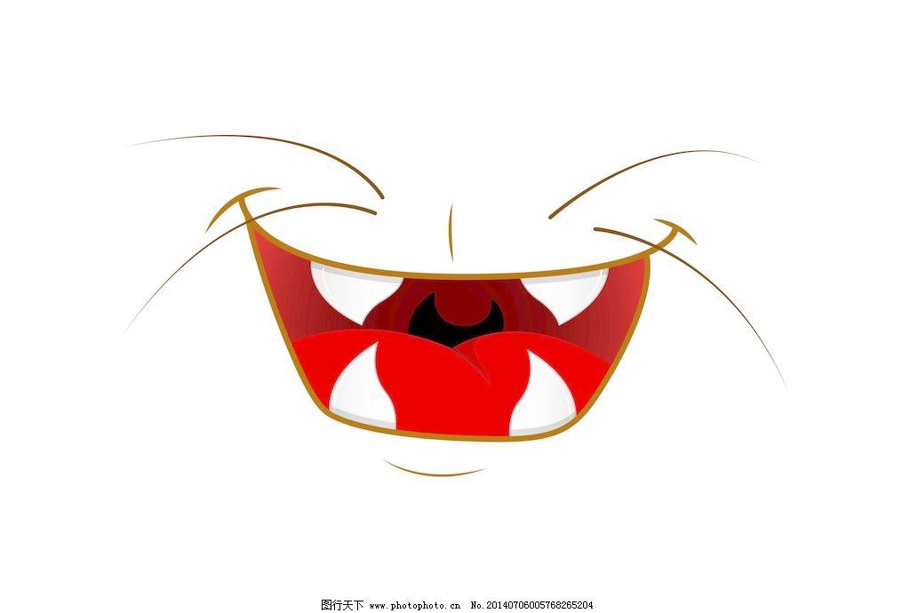 快乐有趣的卡通动物的嘴