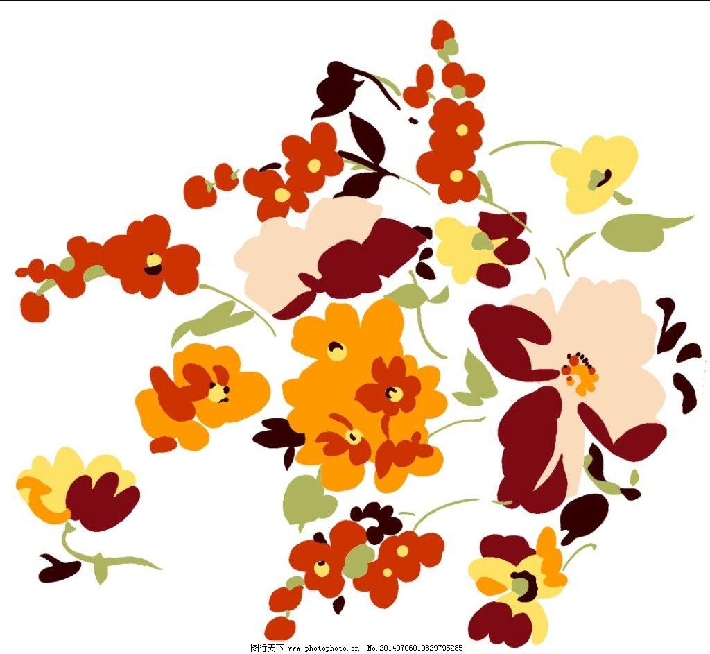 花丛 花丛免费下载 手绘素材 手绘图 花丛手绘插画 装饰素材 其它