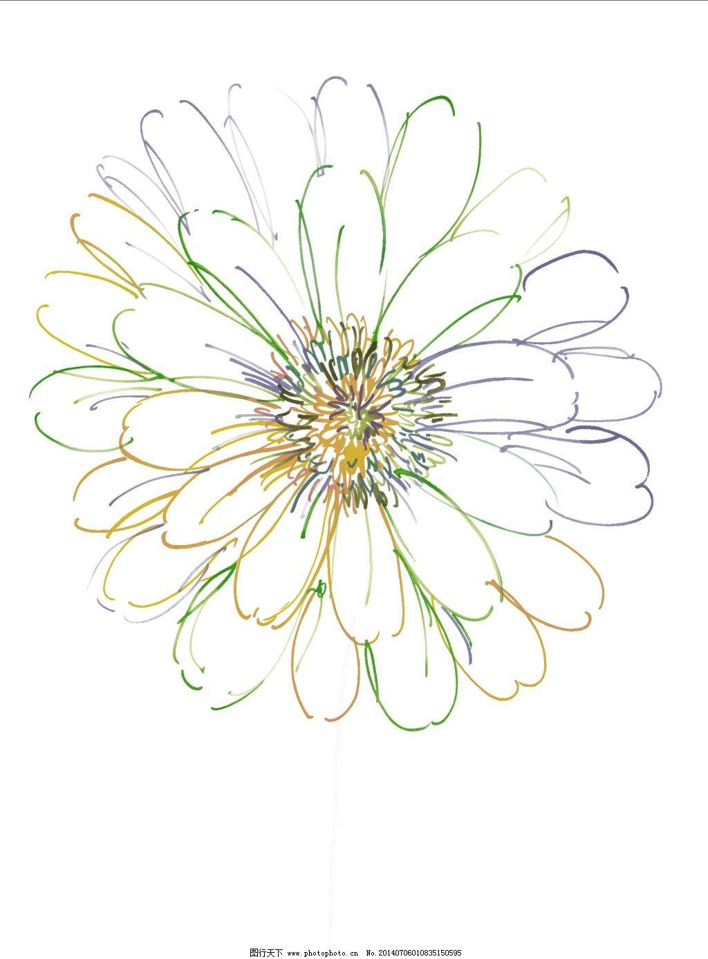 花的轮廓 花的轮廓免费下载 花卉 手绘图 花的轮廓手绘素材 装饰素材