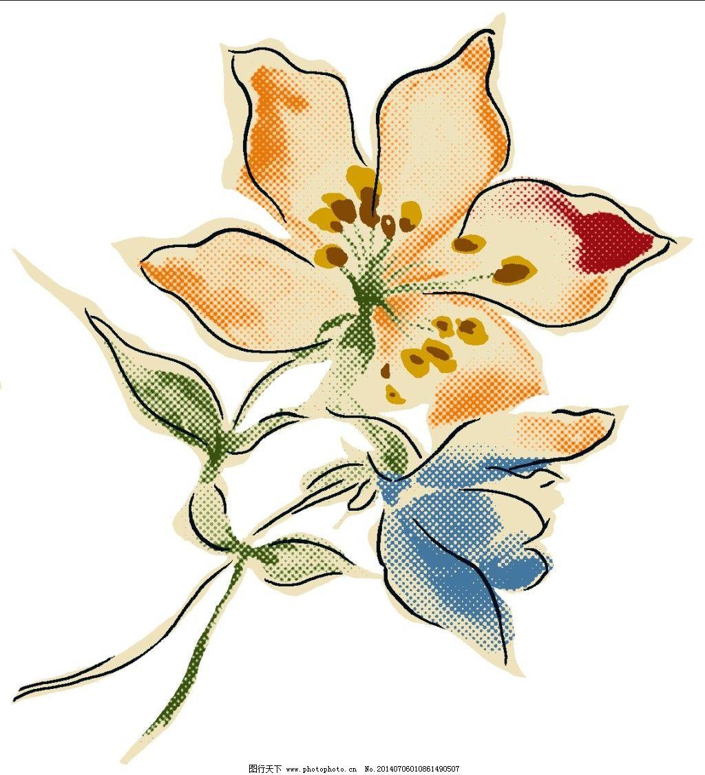 害羞的花 害羞的花免费下载 花卉 手绘图 害羞的花手绘素材 装饰素材