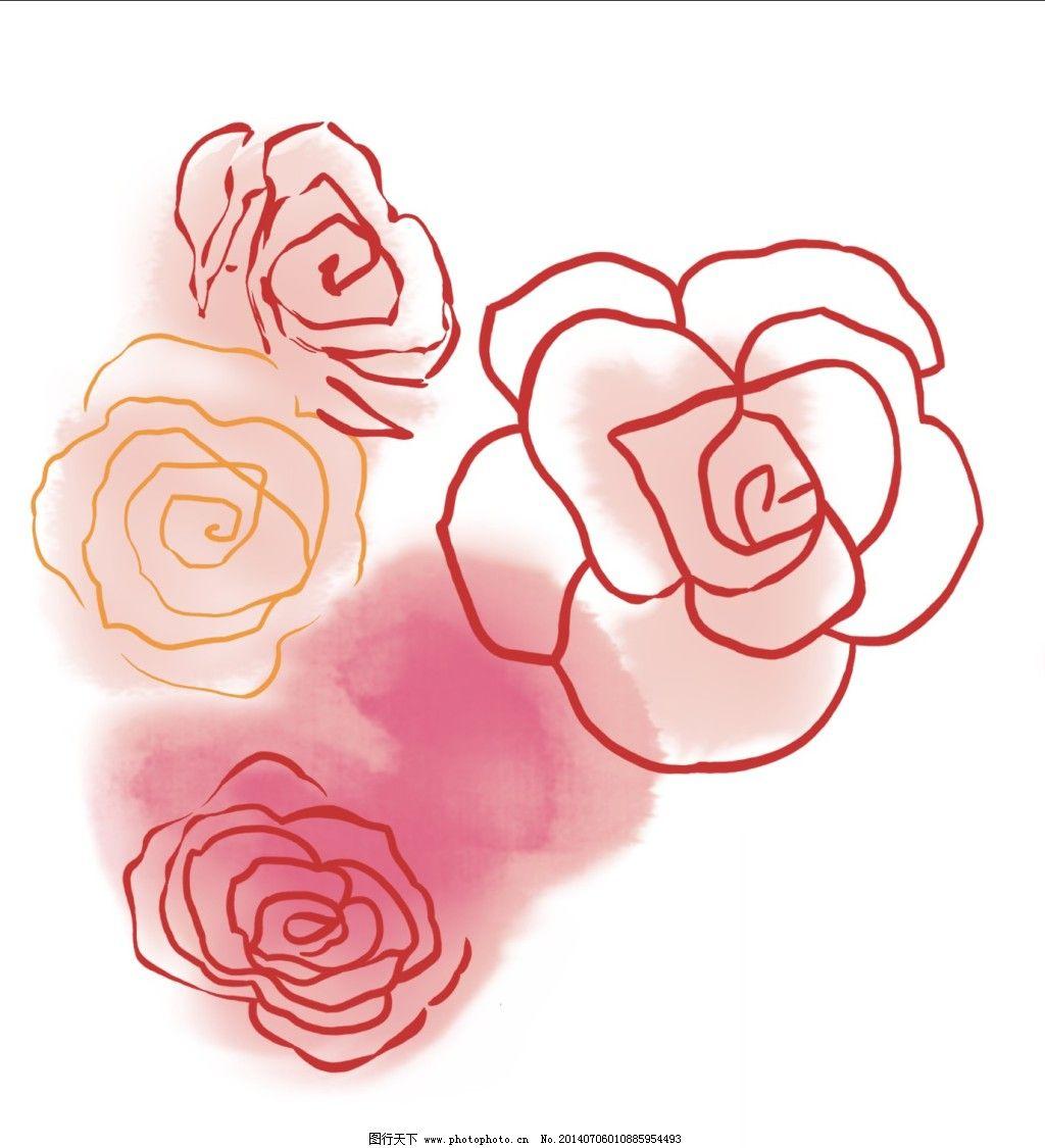 花卉 手绘图