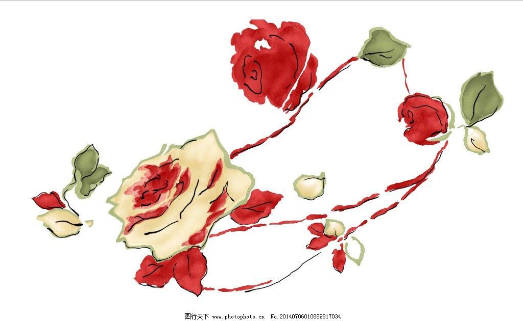 妖娆的花 妖娆的花免费下载 花卉 手绘图 妖娆的花手绘素材 装饰素材