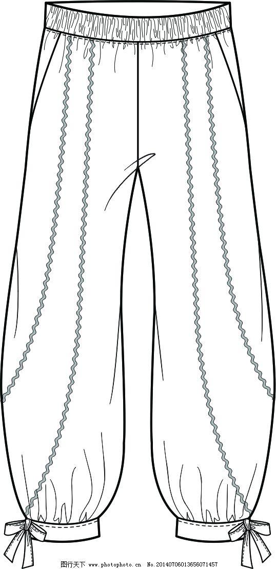 波浪灯笼裤