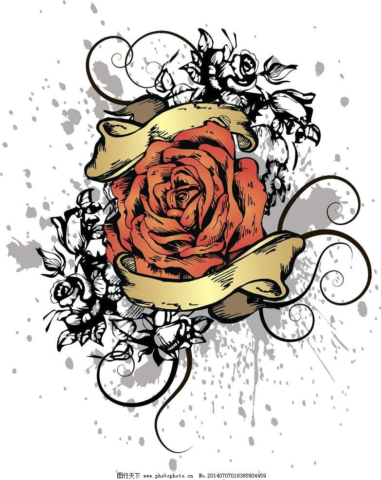 心形纹身t恤图案图片