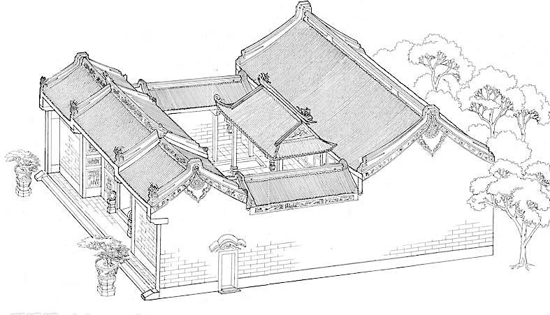 手绘庙宇图片免费下载 jpg 设计图库 手绘 文化艺术 宗教信仰 手绘