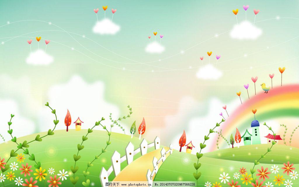 春天_背景图片_底纹边框_图行天下图库图片