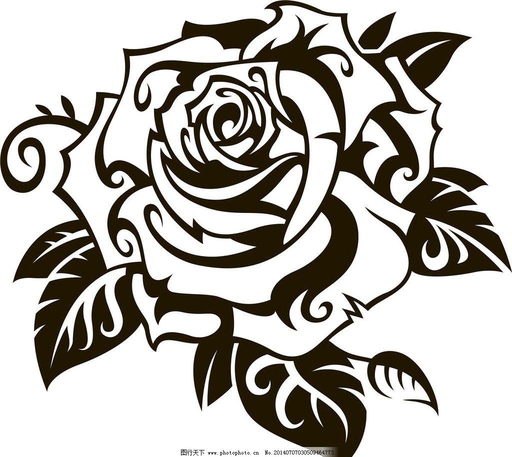 花朵纹身图案 欧美花纹 欧式花纹 欧美纹身 欧式卡通 欧式设计