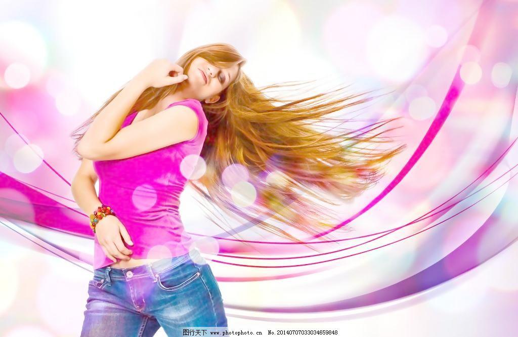 活力动感舞蹈女孩人物