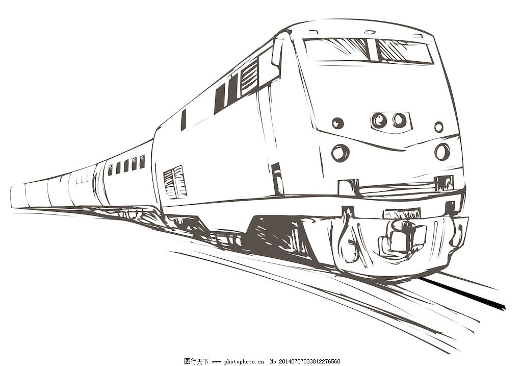 画火车简笔画 步骤